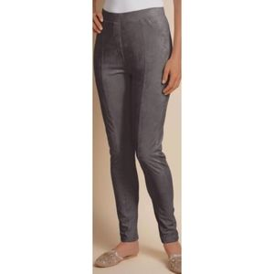 NWT Soft Surroundings Micro Suede Stretch Leggings